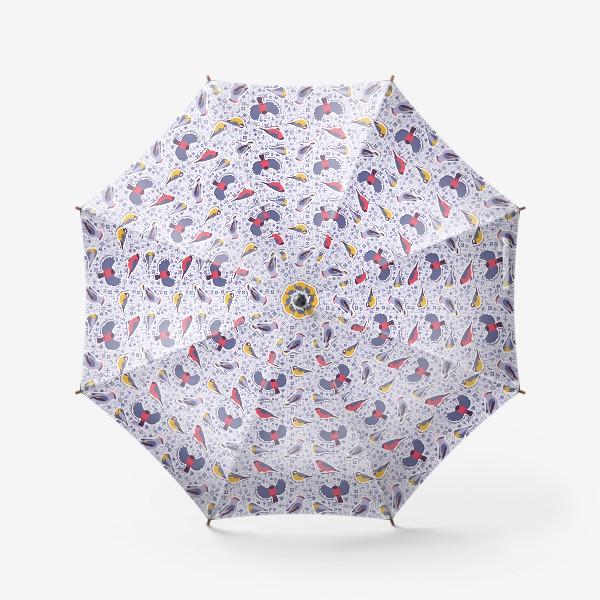 Зонт «Зимние птицы»