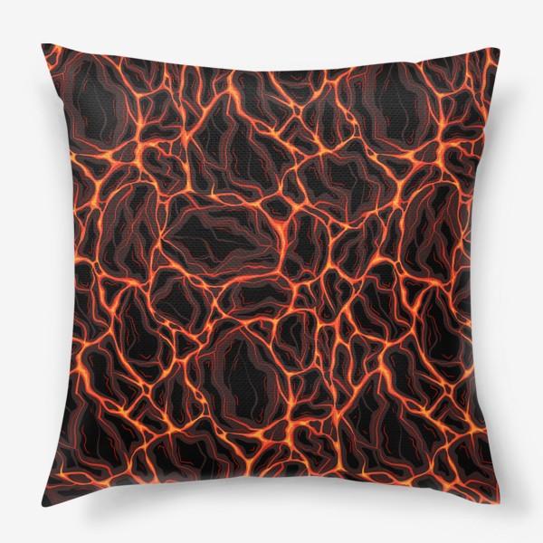 Подушка «Потоки лавы»