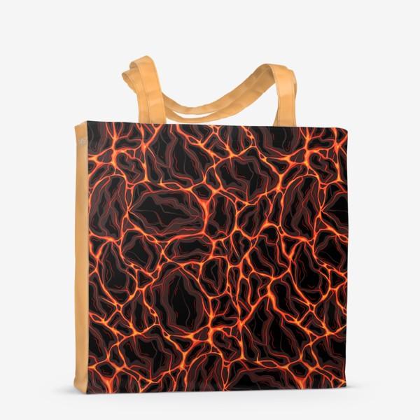 Сумка-шоппер «Потоки лавы»