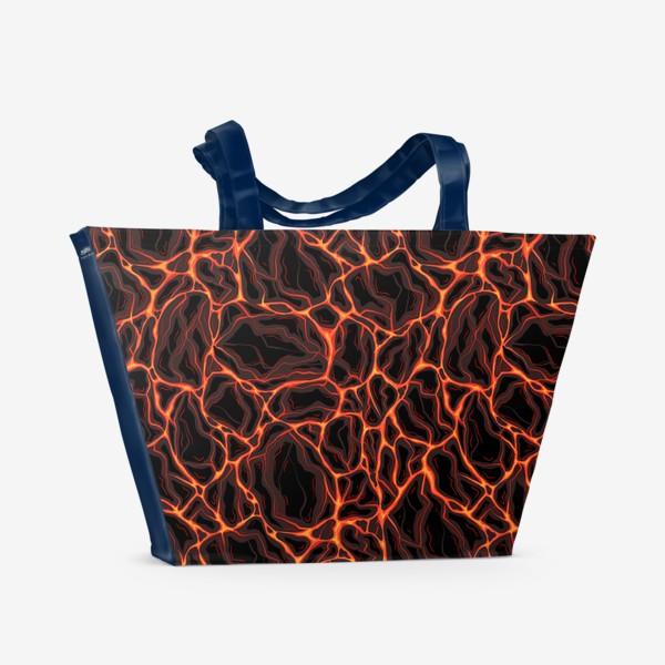 Пляжная сумка «Потоки лавы»
