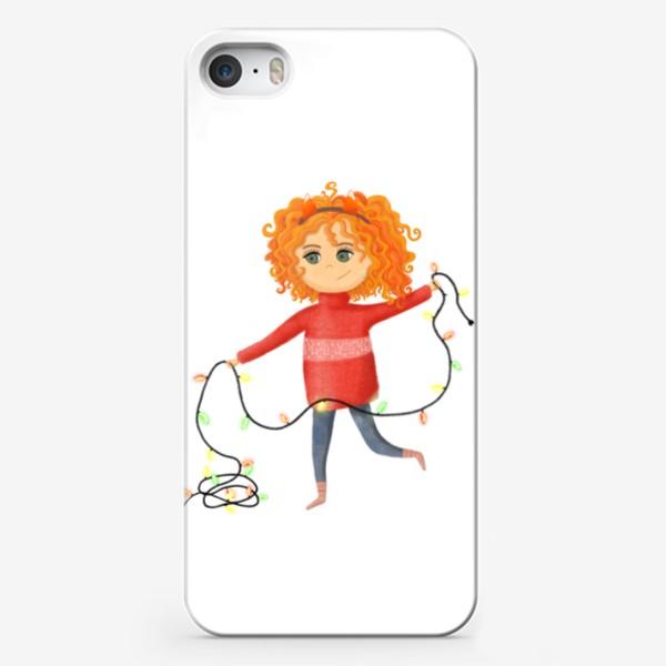 Чехол iPhone «Девочка с гирляндой»