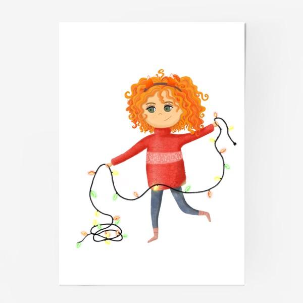 Постер «Девочка с гирляндой»
