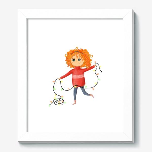 Картина «Девочка с гирляндой»
