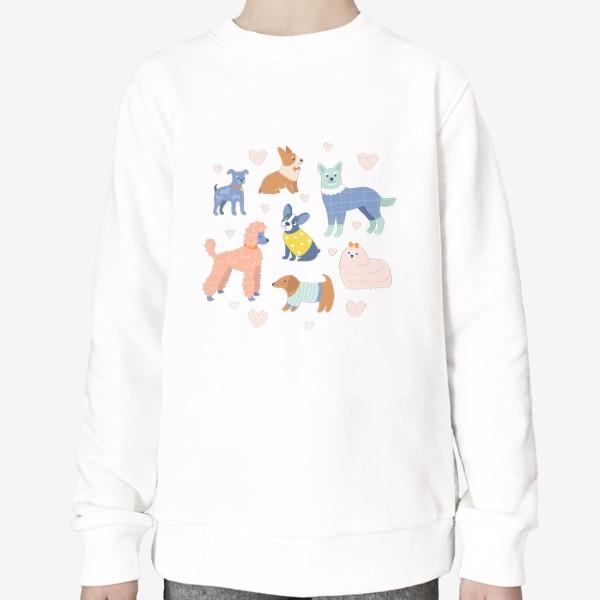 Свитшот «Собаки на прогулке»