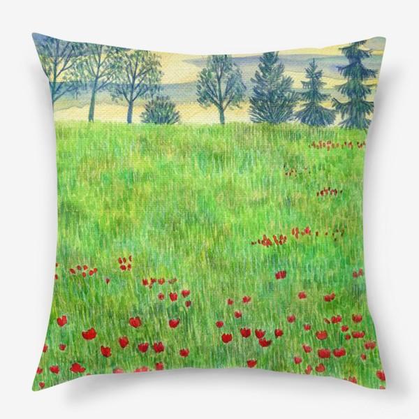 Подушка «Летний пейзаж. »
