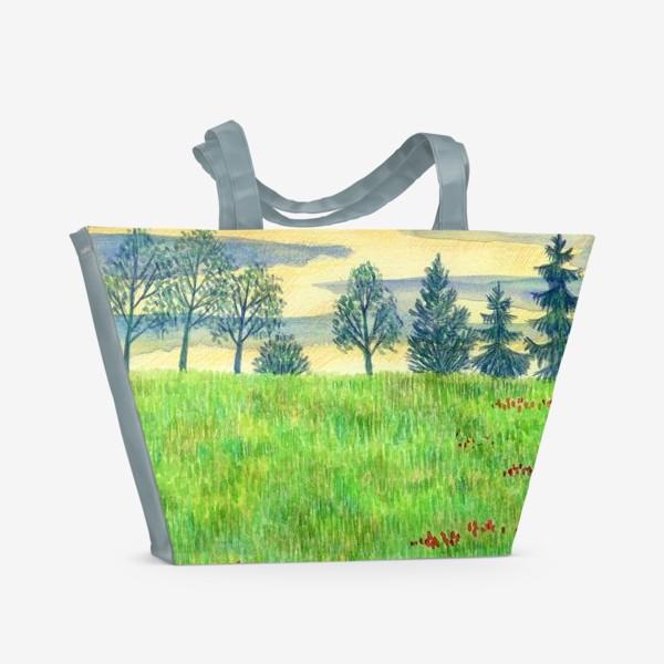 Пляжная сумка «Летний пейзаж. »