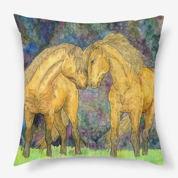 Подушка «Две лошади»