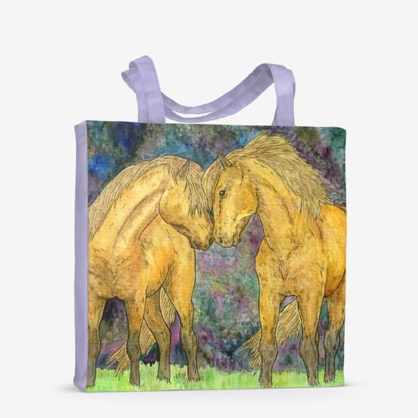 Сумка-шоппер «Две лошади»