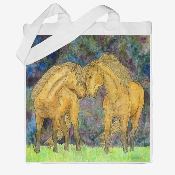 Сумка хб «Две лошади»