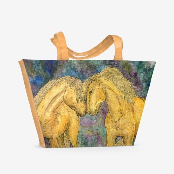 Пляжная сумка «Две лошади»
