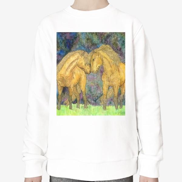 Свитшот «Две лошади»