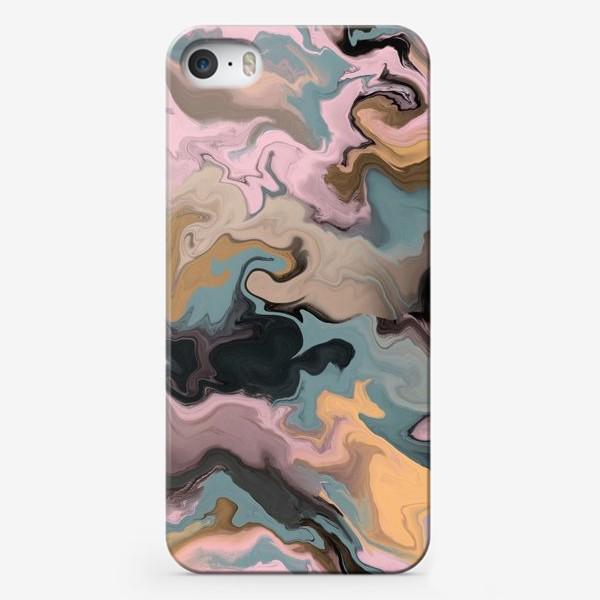Чехол iPhone «абстрактный фон с эффектом акрила »