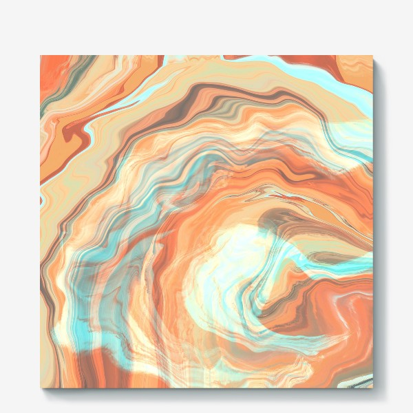 Холст «абстрактный оранжевый фон с эффектом акрила »