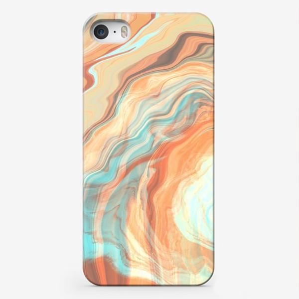 Чехол iPhone «абстрактный оранжевый фон с эффектом акрила »