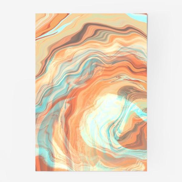 Постер «абстрактный оранжевый фон с эффектом акрила »