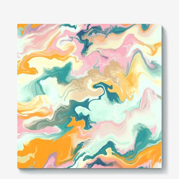 Холст «абстрактный разноцветный  фон с эффектом акрила »