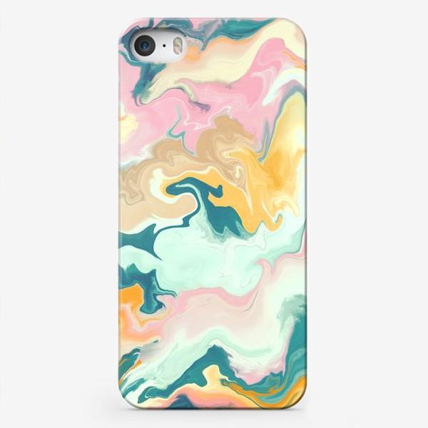 Чехол iPhone «абстрактный разноцветный  фон с эффектом акрила »