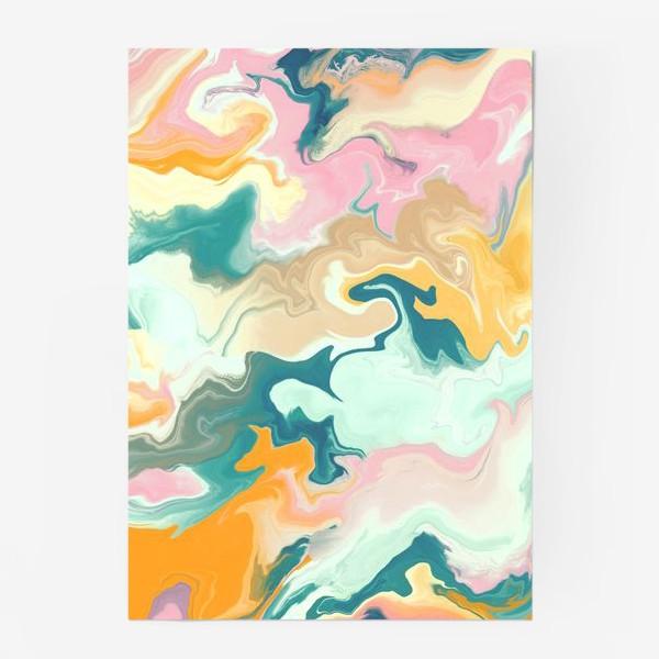 Постер «абстрактный разноцветный  фон с эффектом акрила »