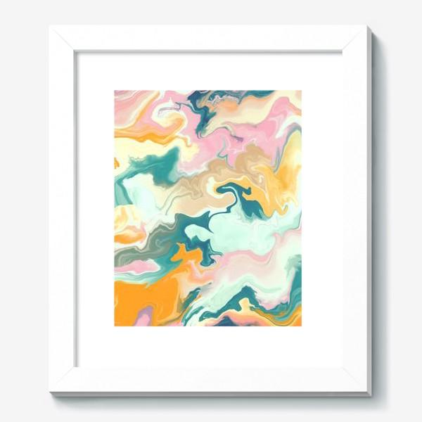 Картина «абстрактный разноцветный  фон с эффектом акрила »