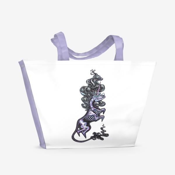 Пляжная сумка «Темный Единорог»