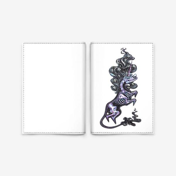 Обложка для паспорта «Темный Единорог»