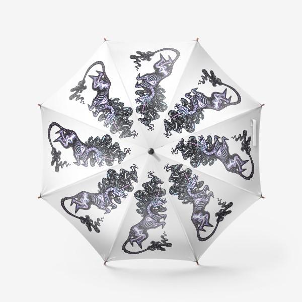 Зонт «Темный Единорог»