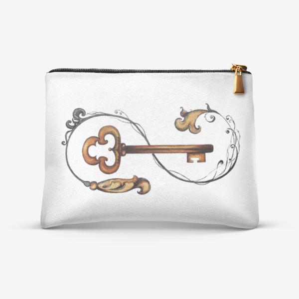 Косметичка «Ключ и викторианский орнамент. »