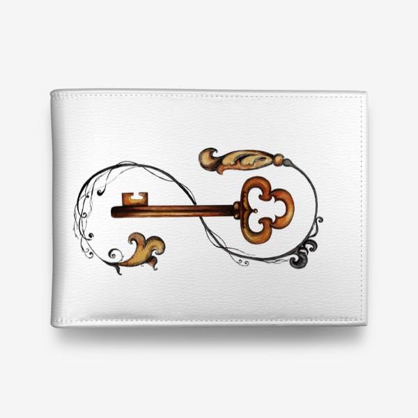 Кошелек «Ключ и викторианский орнамент. »