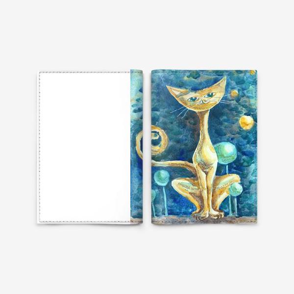 Обложка для паспорта «Лунный Кот»