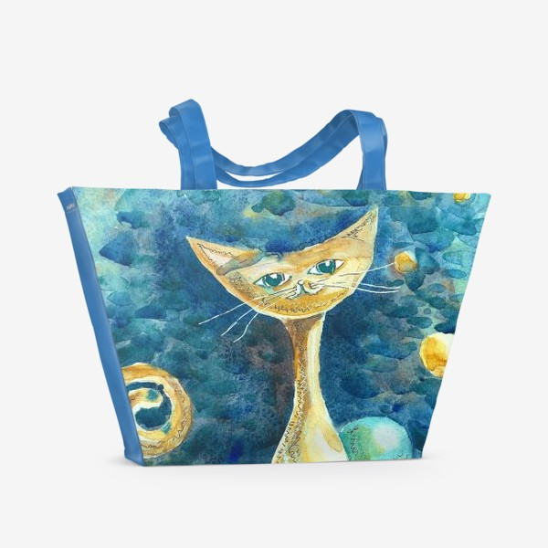 Пляжная сумка «Лунный Кот»