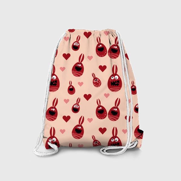 Рюкзак «Пасхальный паттерн на бежевом»