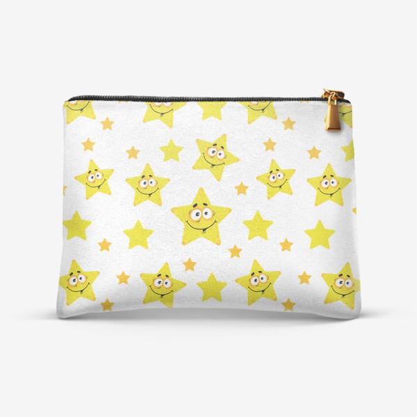 Косметичка «Небесный звездопад! Паттерн со звездами. »