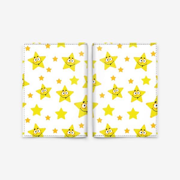 Обложка для паспорта «Небесный звездопад! Паттерн со звездами. »
