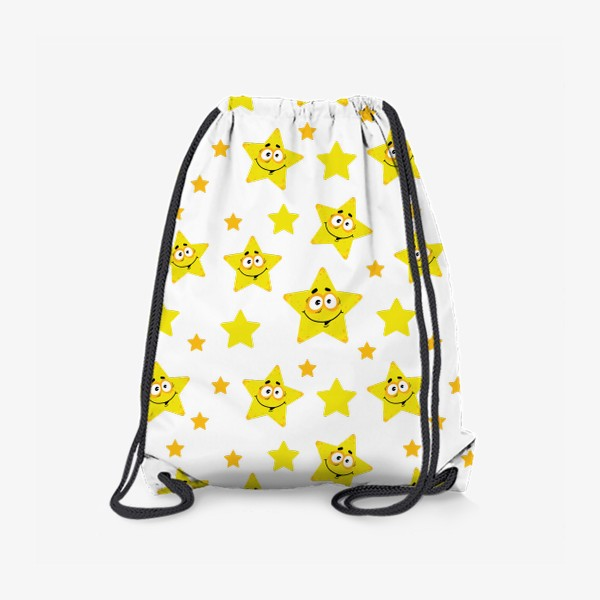 Рюкзак «Небесный звездопад! Паттерн со звездами. »