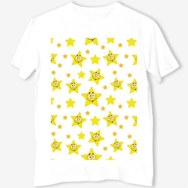 Футболка «Небесный звездопад! Паттерн со звездами. »