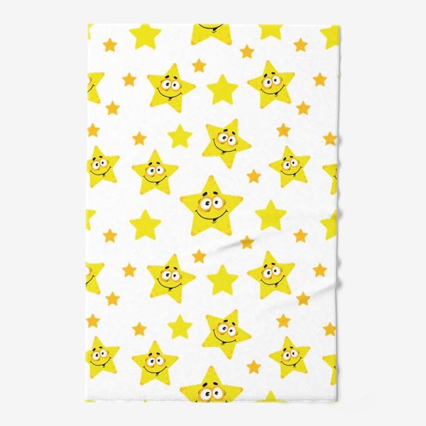 Полотенце «Небесный звездопад! Паттерн со звездами. »