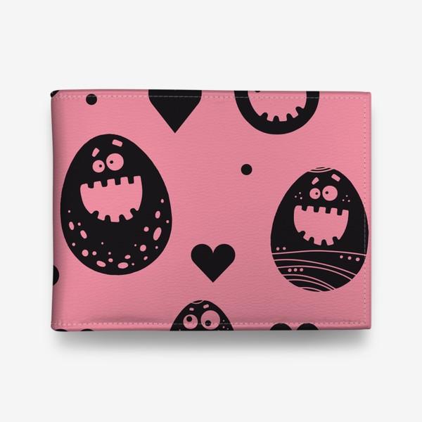 Кошелек «Веселый пасхальный паттерн на розовом»
