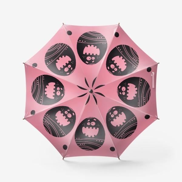 Зонт «Веселый пасхальный паттерн на розовом»