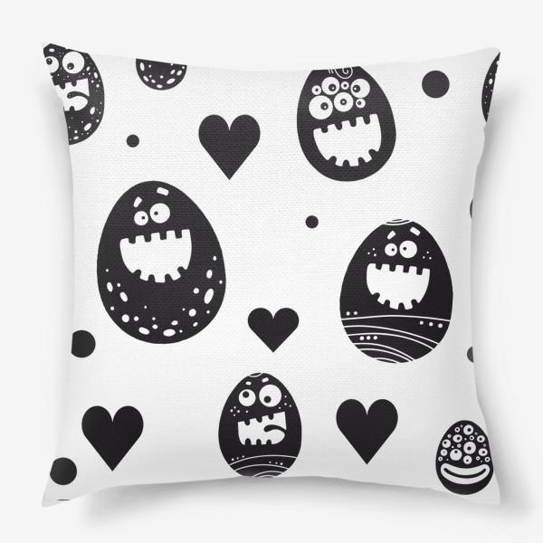 Подушка «Веселый пасхальный паттерн»