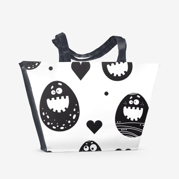Пляжная сумка «Веселый пасхальный паттерн»