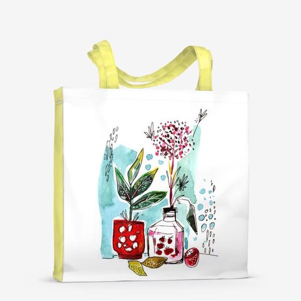 Сумка-шоппер «Акварельный натюрморт»
