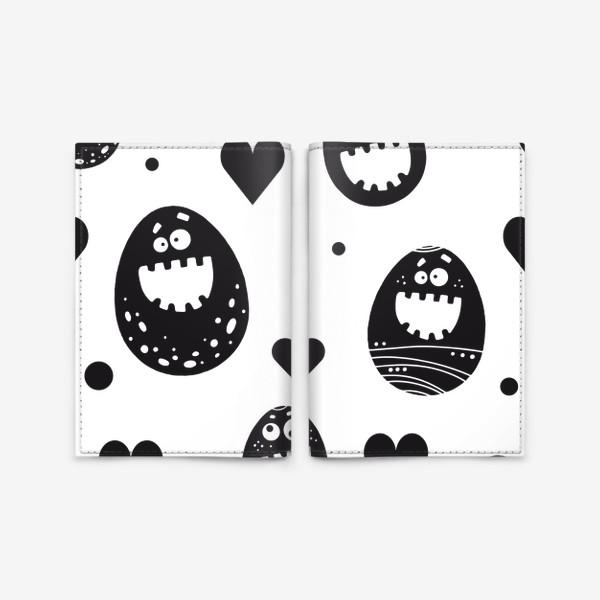 Обложка для паспорта «Веселый пасхальный паттерн»