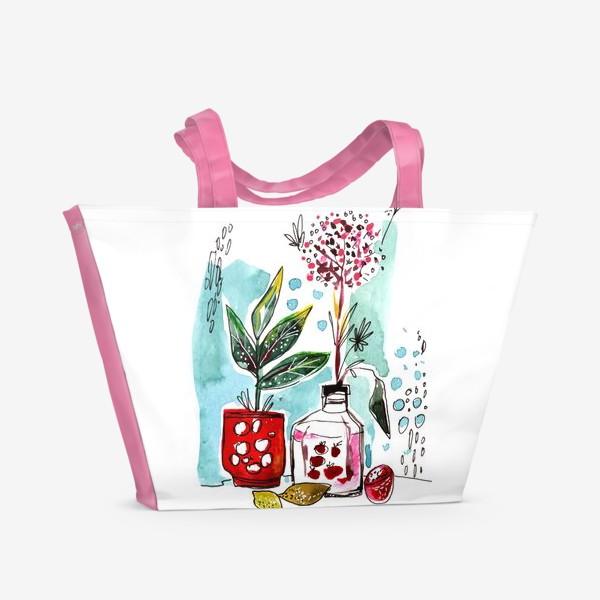 Пляжная сумка «Акварельный натюрморт»