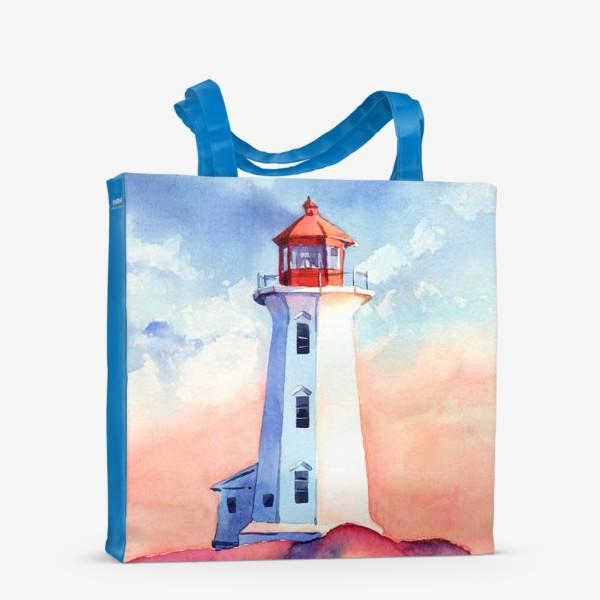 Сумка-шоппер «Акварельный маяк»