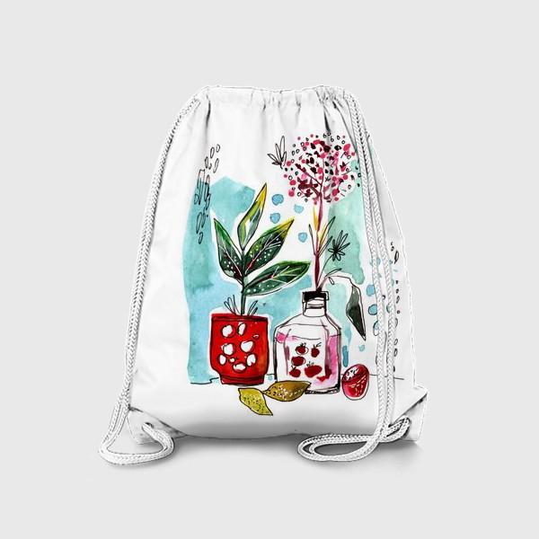 Рюкзак «Акварельный натюрморт»