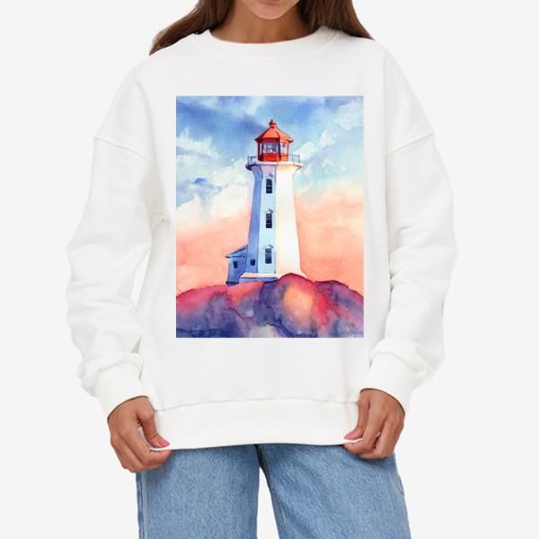 Свитшот «Акварельный маяк»