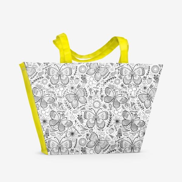 Пляжная сумка «Бабочки »
