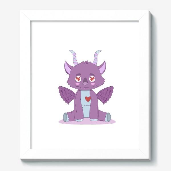 Картина «Влюбленный милый фиолетовый дракончик»