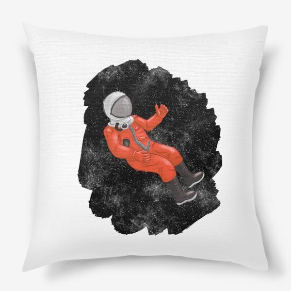 Подушка «Космонавт в открытом космосе»