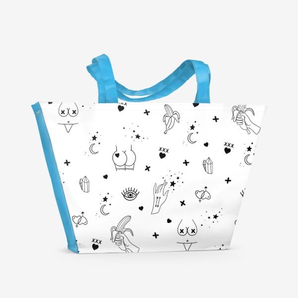 Пляжная сумка «Узоры 18+»